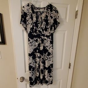 Merona Navy and White dress